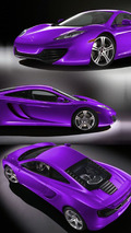 2010 McLaren MP4-12C - Purple Livery