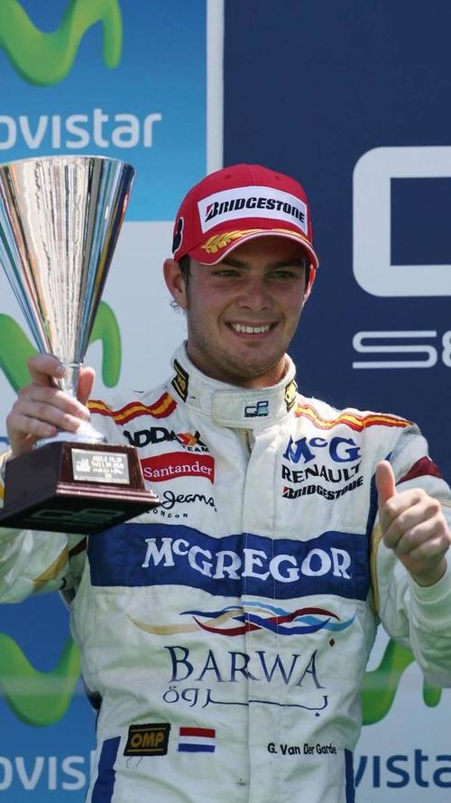 Van der Garde and sponsor McGregor eye 2011 Virgin seat