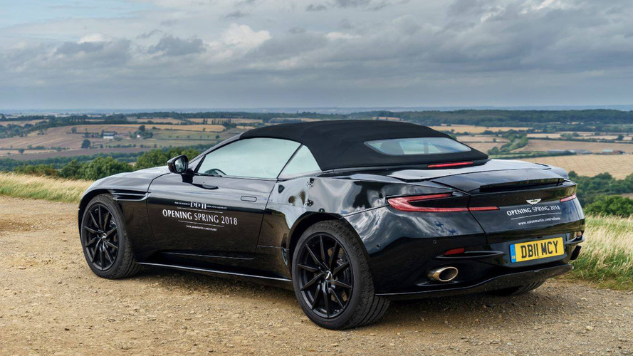 2018 Aston Martin DB11 Volante teases its rear end for first time