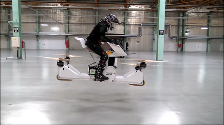 Hoverbike looks like a death trap, still awesome