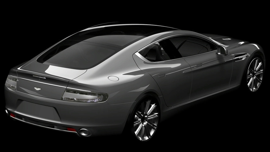Aston Martin Rapide Shows Its Backside