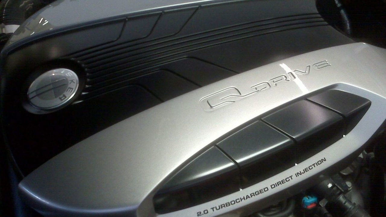 Fisker Karma engine cover