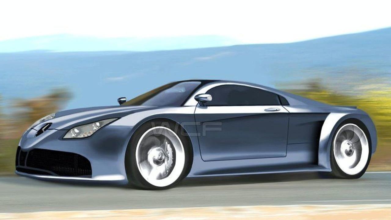 Mercedes SLS McLaren artist interpretation