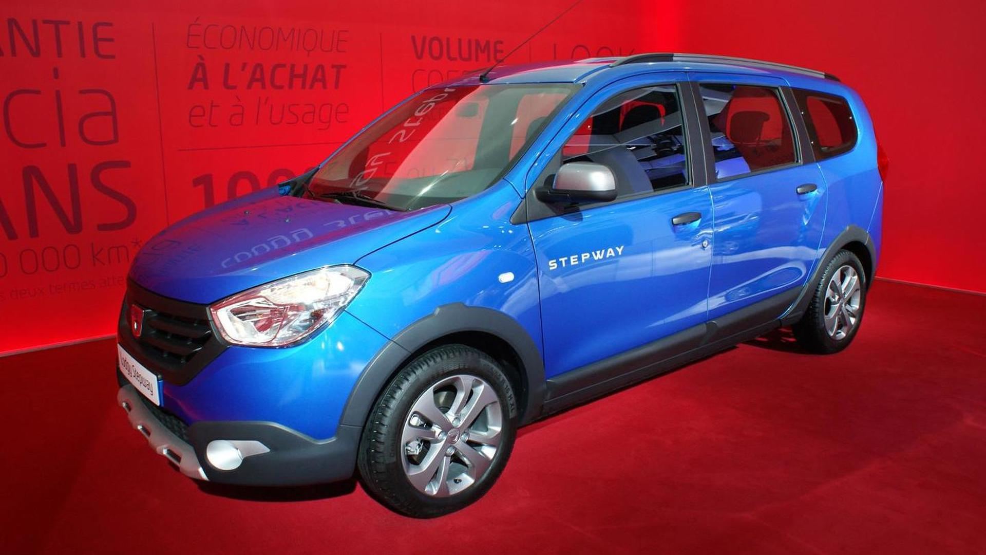 Dacia introduces Stepway versions of Lodgy and Dokker in Paris