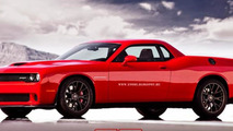 Dodge Challenger SRT Supercharged pick-up rendering / X Tomi