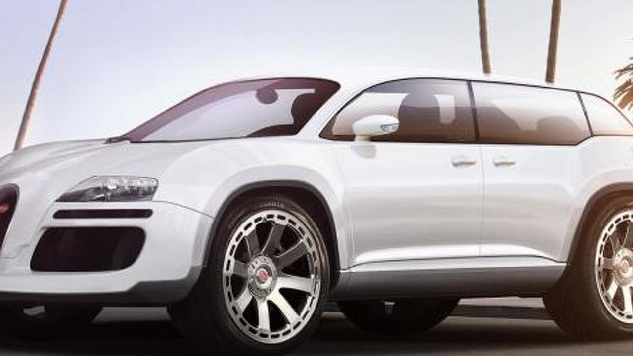 Bugatti SUV specutively rendered by Christer Stormark