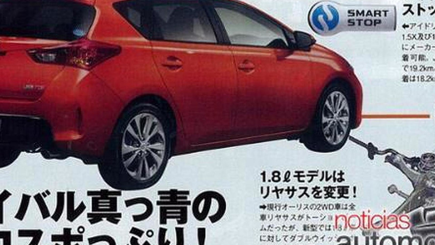 2013 Toyota Auris leaked?