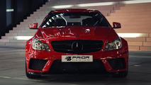 Mercedes-Benz C-Class Coupe with Prior Design widebody kit