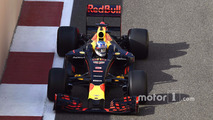 Daniel Ricciardo, Red Bull Racing testing the new 2017 Pirelli tires