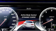Mercedes highlights the curve control system on the S-Class Coupe