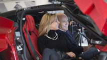 Paul Bailey and his wife inside LaFerrari