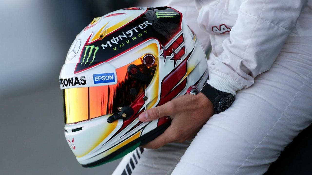 The helmet of Lewis Hamilton (GBR) / XPB