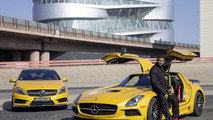 Usher with the Mercedes SLS AMG & A45 AMG 04.3.2013