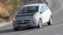2014 Opel Corsa facelift spy photo
