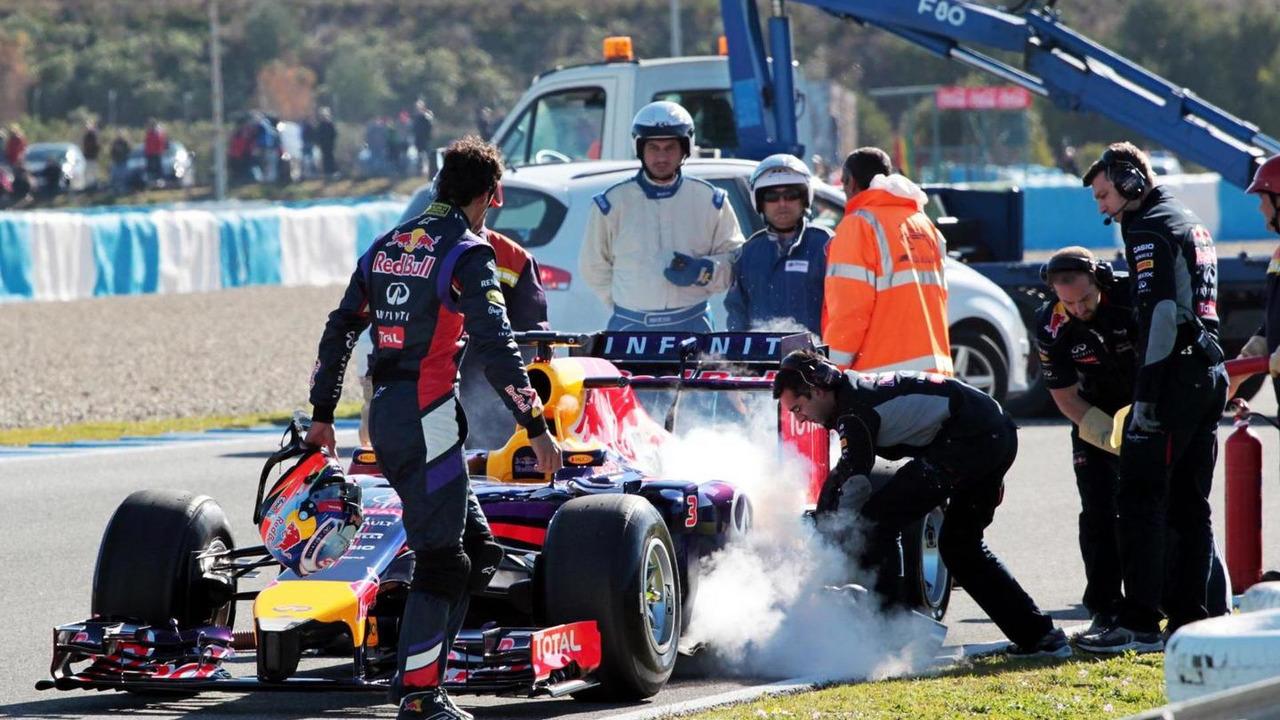 Daniel Ricciardo Red Bull RB10  Formula One Testing Jerez Spain
