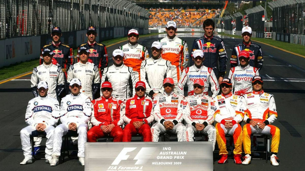 Drivers group picture, Australian Grand Prix 29.03.2009