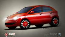2010 Fiat Uno artist rendering