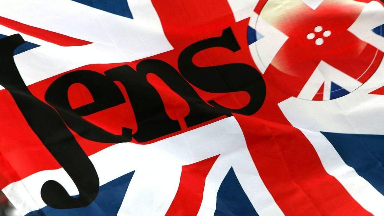 British Flag for Jenson Button