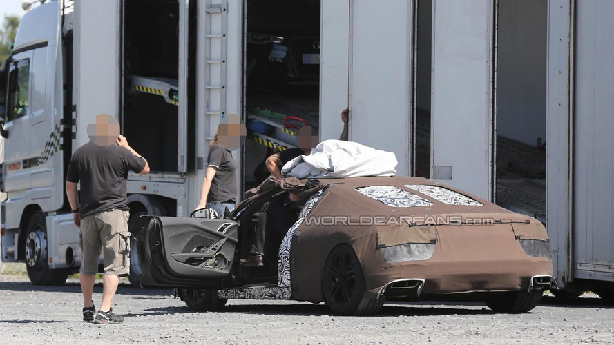 2015 Audi R8 spied with the door open