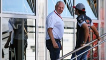 Dr Helmut Marko, Red Bull Motorsport Consultant with Carlos Sainz Jr., Scuderia Toro Rosso