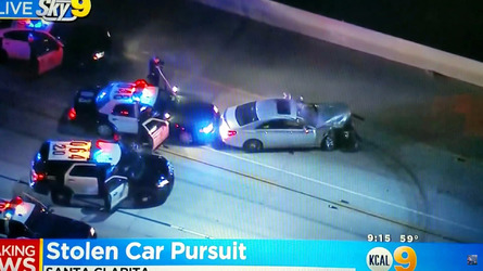 Stolen Mercedes CLS Class chase comes to a dramatic end