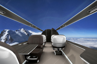 Jet Concept Substitutes Windows for Panoramic Views [w/Video]