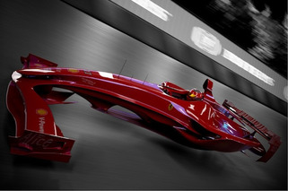 Ferrari F1 Hovercar Concept Foreshadows the Future of Motor Racing