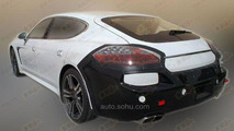 2014 Porsche Panamera facelift spy photo / auto.sohu.com