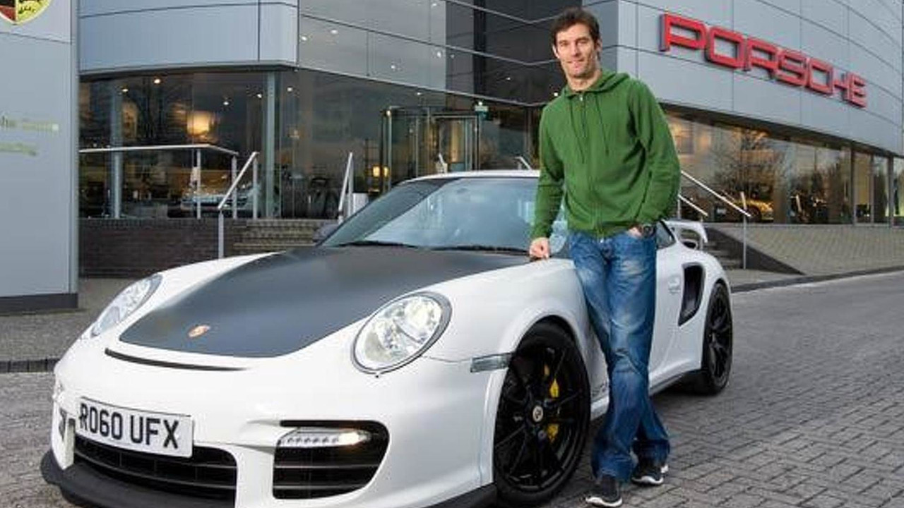 Mark Webber with his 2011 Porsche 911 GT2 RS, 650