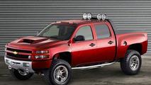 Dale Earnhardt Jr.'s Big Red Silverado at Sema