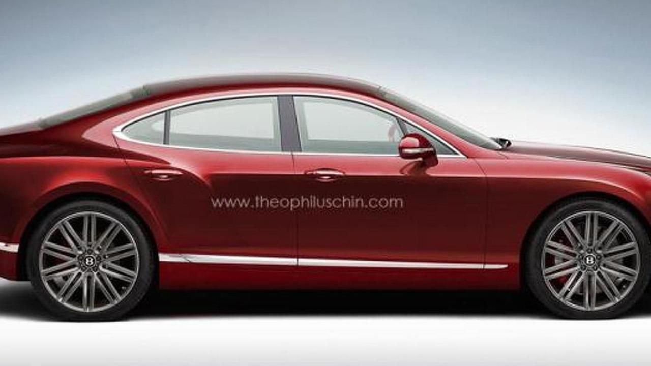 Bentley four-door coupe rendering