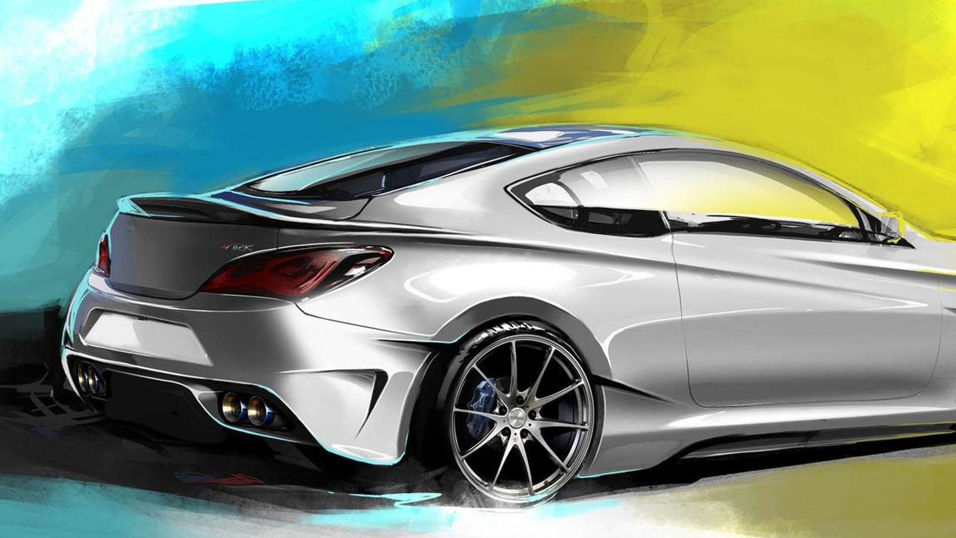 Hyundai Legato Concept announced for SEMA, based on the Genesis Coupe