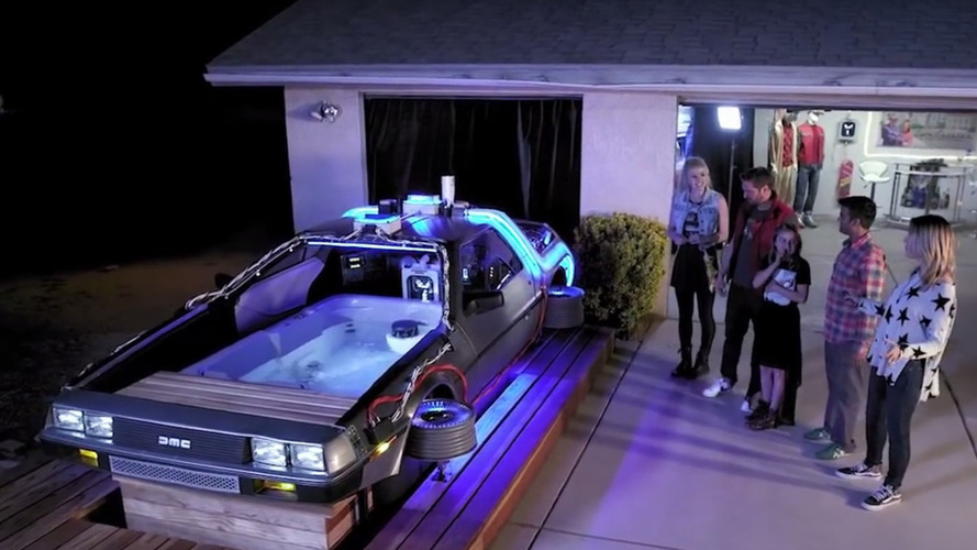 Here's a Back to The Future DeLorean hot tub, because why not?