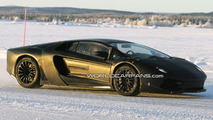 Lamborghini Jota Murcielago Successor Spied Winter Testing in Lap Land