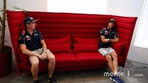 Daniel Ricciardo and  Max Verstappen, Red Bull Racing