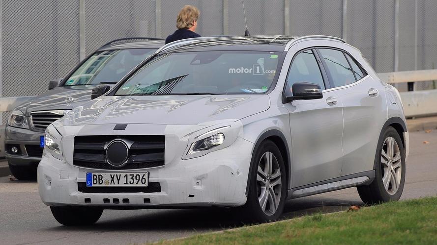 Mercedes-Benz GLA-Class facelift spied in light camo