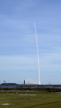 SpaceX Falcon 9 rocket launch and booster landing