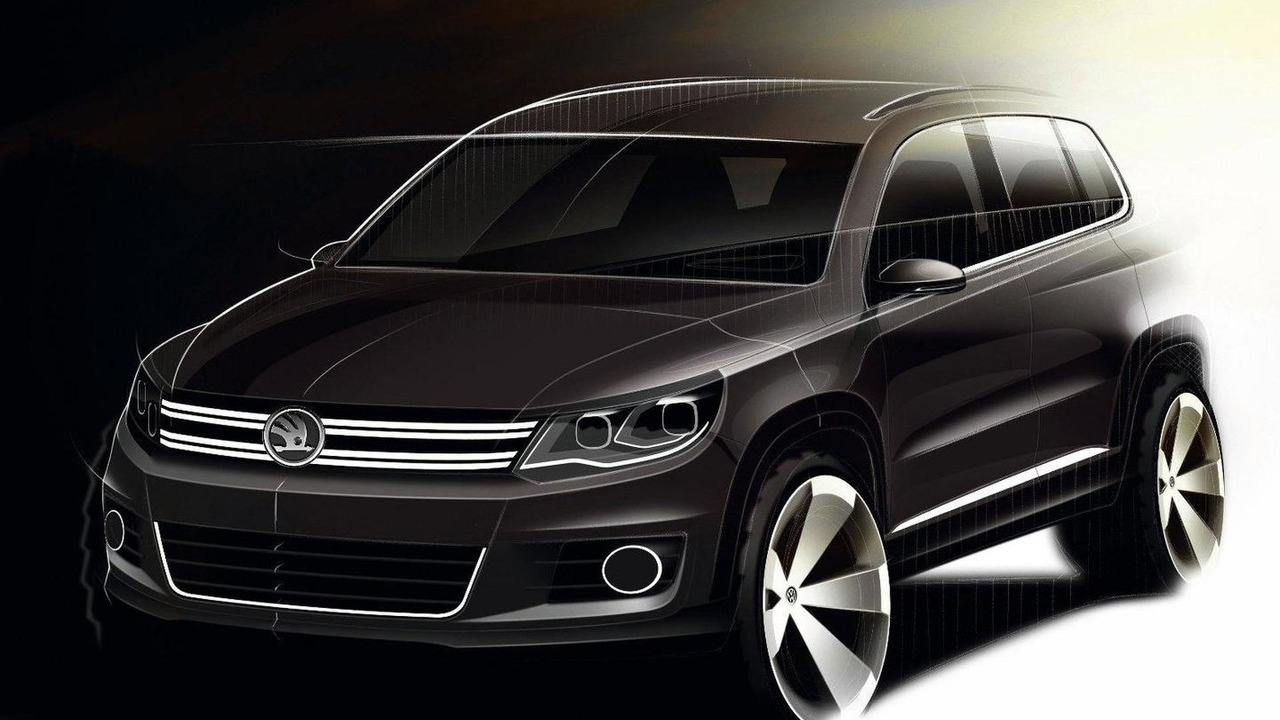 2011 Volkswagen Tiguan design sketch with modified Skoda emblem 31.10.2011