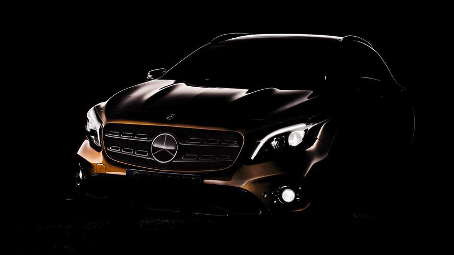 2018 Mercedes GLA facelift teased ahead of Detroit premiere