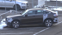 Mercedes GLC Coupe spied parked with barely any camo [video]