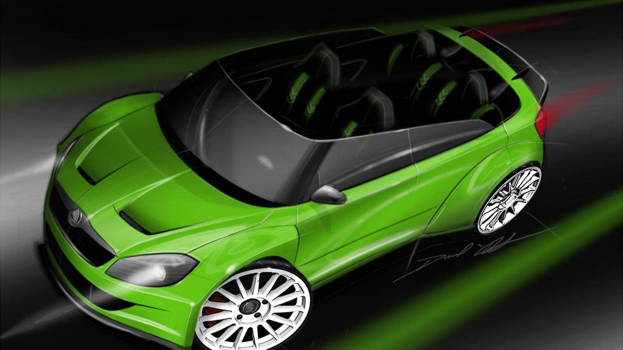 Skoda RS 2000 concept design sketch, 02.06.2011