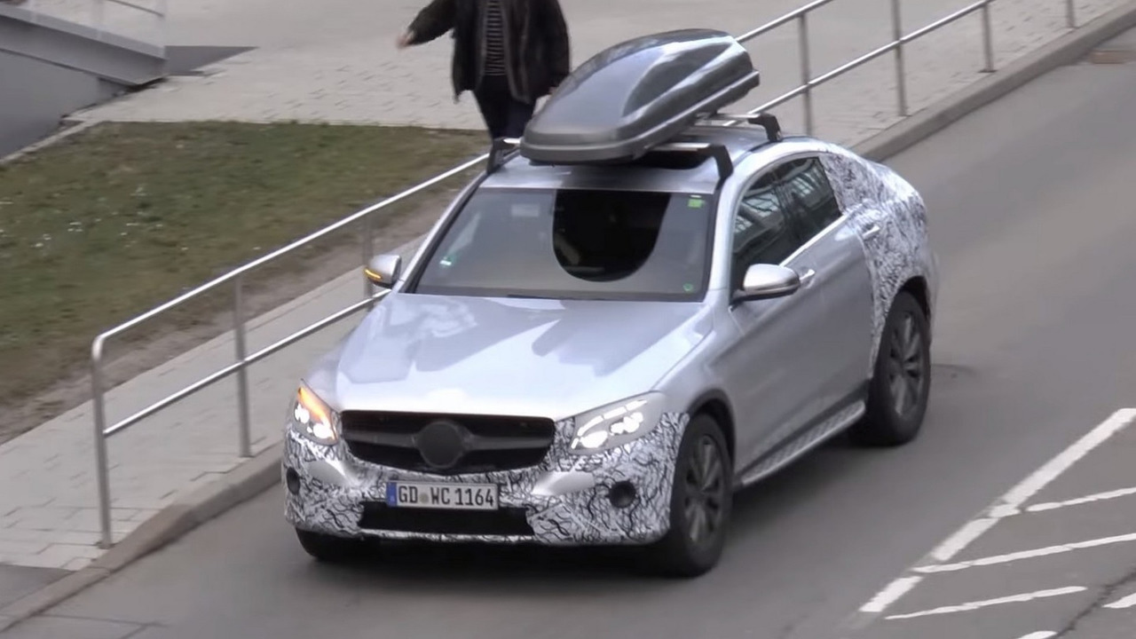 Mercedes GLC Coupe screenshot from spy video