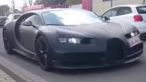 Bugatti Chiron spy video