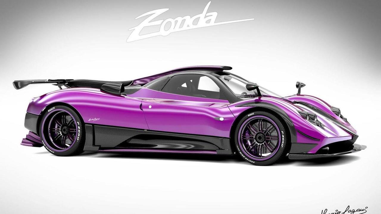 Pagani Zonda 750 design proposal for Al-Thani