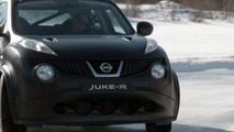 Nissan Juke-R on Norwegian ice track [video]