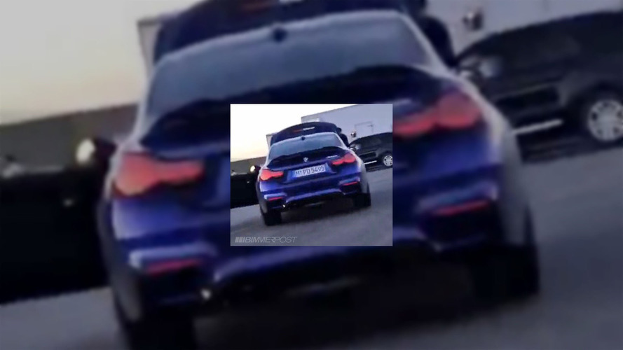 BMW M4 CS caught completely uncovered during commercial shoot