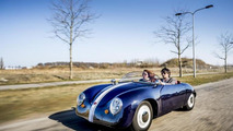 Carice Mk1 is a 350 kg plastic-bodied electric Porsche 356 lookalike from The Netherlands