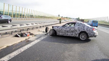 BMW 2-Series Coupe accident on autobahn 10.06.2013