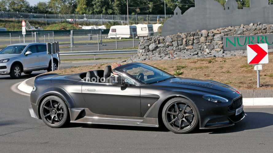 Aston Martin Vantage GT12 Roadster spied with its top down