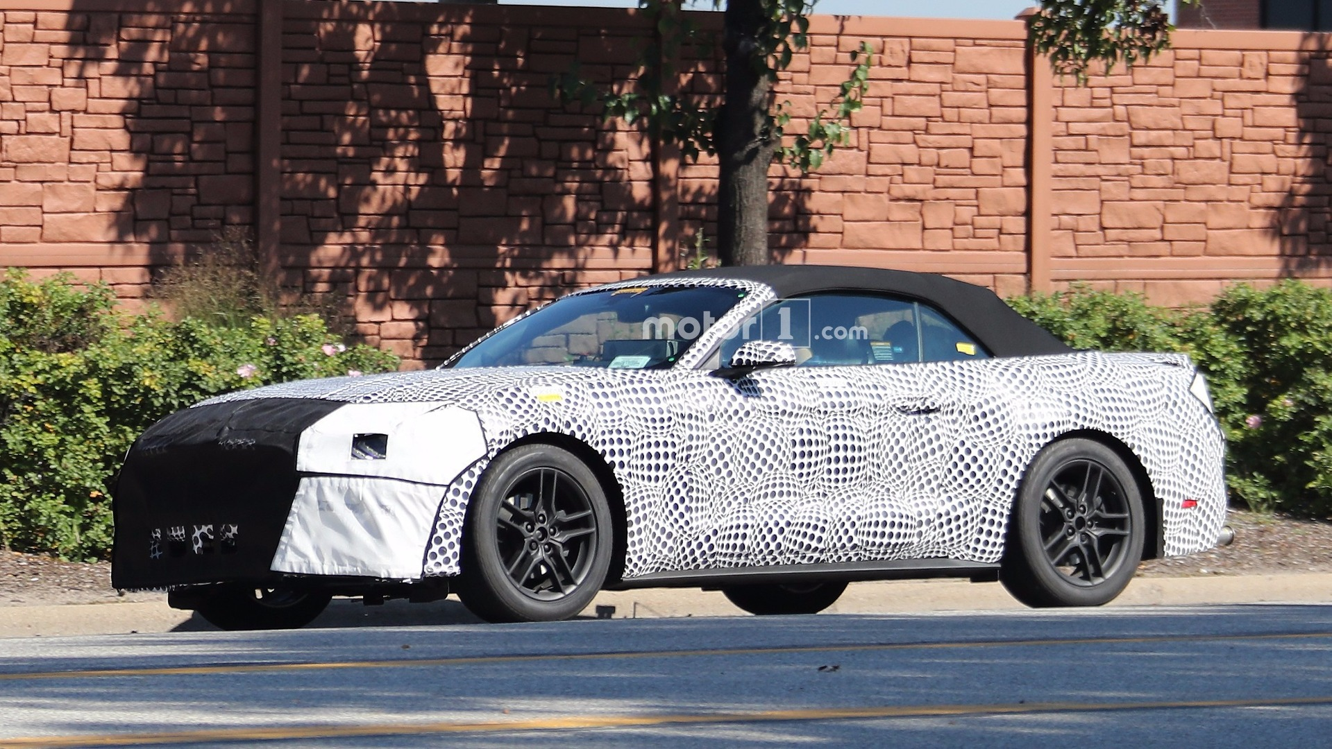 2018 Ford Mustang Convertible spied with heavy camo